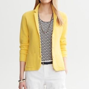 Banana Republic yellow sweater blazer cardigan